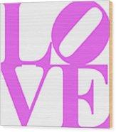 Love 20130707 Violet White Wood Print