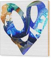 Love 4 - Heart Hearts Romantic Art Wood Print