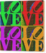 Love 4 Philadelphia - Painterly V4 Wood Print by Wingsdomain Art and Photography