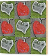 Love 9 Squared Wood Print
