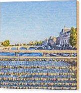 Love Across The Seine Wood Print