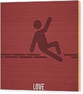 Love Wood Print by Aged Pixel