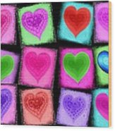 Love All Around  Wood Print by Cindy Edwards