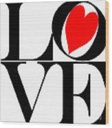 Love All Around Wood Print