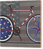 Love America Bike Wood Print by Andy Scullion