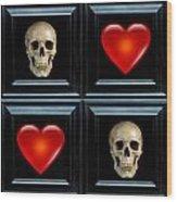 Love And Death Vi Wood Print