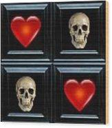 Love And Death Vii Wood Print