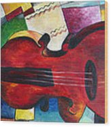 Love And Music Triptych Wood Print