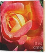 Love And Peace Rose Wood Print