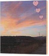 Love And Sunset Wood Print by Augusta Stylianou