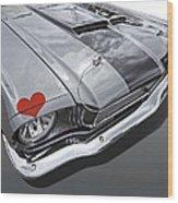 Love At First Sight - '66 Mustang Wood Print