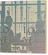 Love At Longwood Wood Print