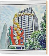 Love Balloons Wood Print