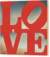 Love Beach Wood Print