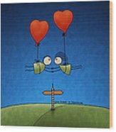 Love Beyond Boundaries Wood Print by Gianfranco Weiss