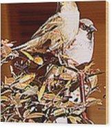 Love Birds II Wood Print