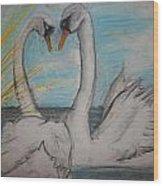 Love Birds Wood Print by Jake Huenink