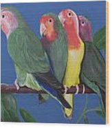 Love Birds Wood Print by Kathy Weidner