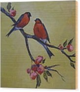 Love Birds Wood Print by Kelley Smith