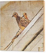Love Birds On My Balcony Wood Print