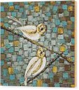 Love Birds- Warm Tone Wood Print