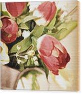 Love Blooms Here Wood Print