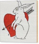 Love Bunny Wood Print