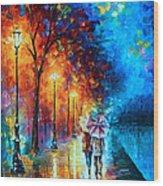 Love By The Lake Wood Print