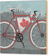 Love Canada Bike Wood Print by Andy Scullion