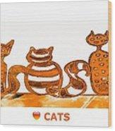 Love Cats 2 Wood Print