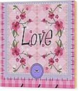 Love Cherry Blossom Wood Print