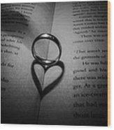 Love Circle Wood Print