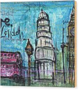 Love For London Wood Print