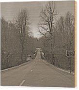 Love Gap Blue Ridge Parkway Wood Print