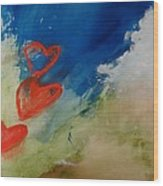 Love Gives You Wings Wood Print