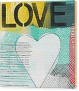 Love Graffiti Style- Print Or Greeting Card Wood Print
