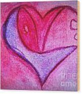 Love Heart 3 Wood Print