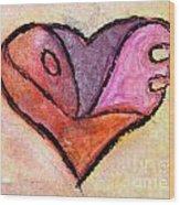 Love Heart 4 Wood Print