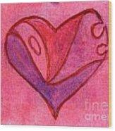 Love Heart 6 Wood Print