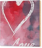 Love Heart Wood Print