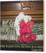 Love In Harmony Wood Print