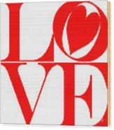 Love In Red Wood Print