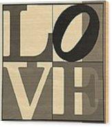 Love In Sepia Wood Print