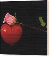 Love In The Balance Wood Print