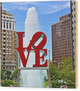 Love In The Park Wood Print