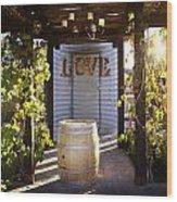 Love In The Vines Wood Print