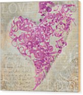 Love Is A Gift Wood Print by Fran Riley