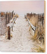 Love Is Everything - Footprints In The Sand Wood Print by Gary Heller