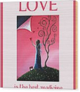 Love Is The Best Medicine By Shawna Erback Wood Print