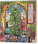 Love Is What Happens At Christmas Wood Print